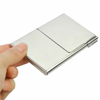 Stainless Steel Pocket Business Name Credit ID Card Holder Box Wallet Case Box