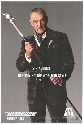 AVENGERS MOVIE POSTER Original DS 27x40 SEAN CONNERY Advance Style