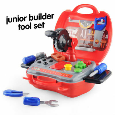 Tool Kit Box Case Role Play Set Screwdriver Friction Drill DIY Kids Childrens UK