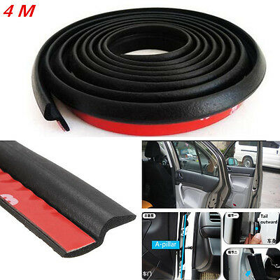 4M Z shape Car Window Door Rubber Seal Hollow Strip Pad Weatherstrip Sealing