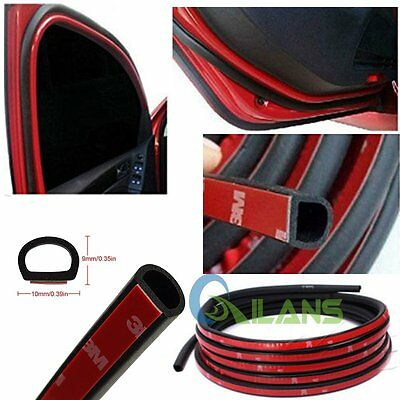 4M small D shape Car Door Rubber Weather Seal Hollow Strip Weatherstrip 13FT