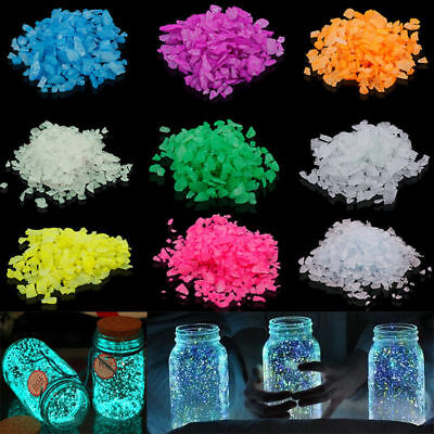 Colorful Glow in the Dark luminous Pebbles Fish Tank Aquarium Stones Garden New