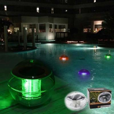 Solar Power LED Light Floating Rotate Waterproof Ultra Bright 7 Color Changes