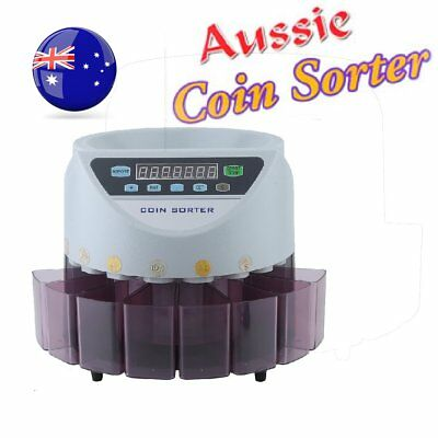 Aussie Coin Counter Money Sorter Automatic Counting Sorting Machine Digital EY