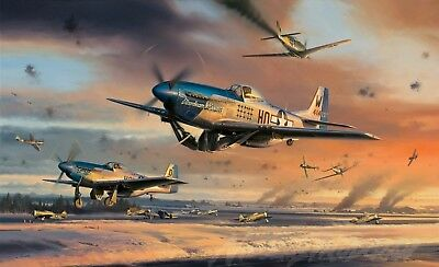 """42/"""" x24/"""" LARGE WALL POSTER PRINT NEW. P51 Mustang Old Crow WWII Fighter Plane"""