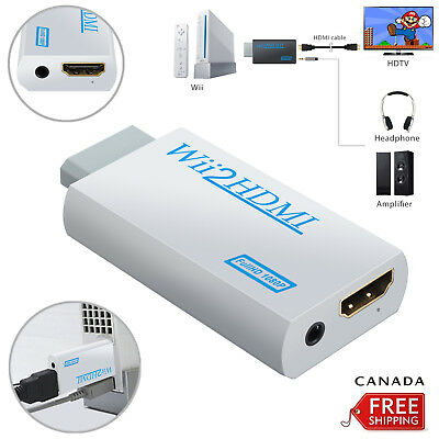 Mini 1080p Wii to HDMI Converter 3.5mm Adapter Wii2HDMI Audio HD Video Output CA