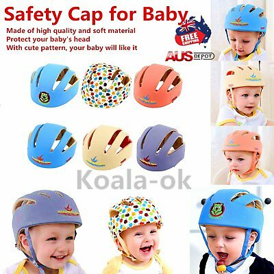Baby Safety Helmets Cotton Infant Protective Hat Headguard Crashproof Hat Lot DF