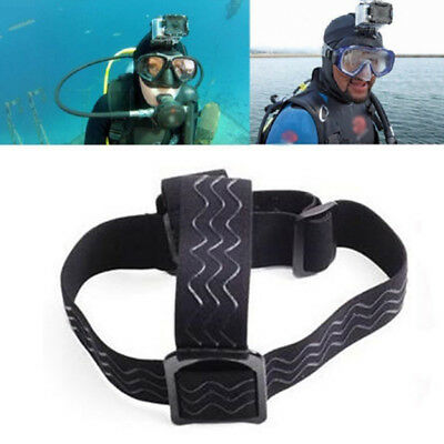 Elastic Adjustable Headband Belt Headlight Lamp Head Strap For Gopro Hero 6 5 4