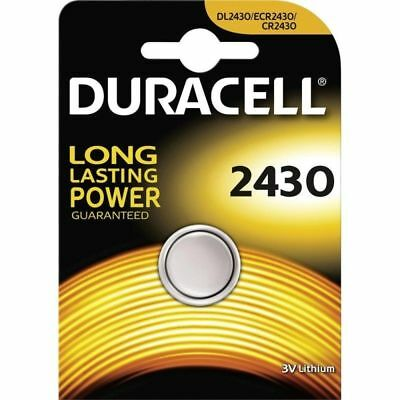 1 x Duracell CR2430 3V Lithium Coin Cell Battery DL2430 K2430L ECR2430 Brand New