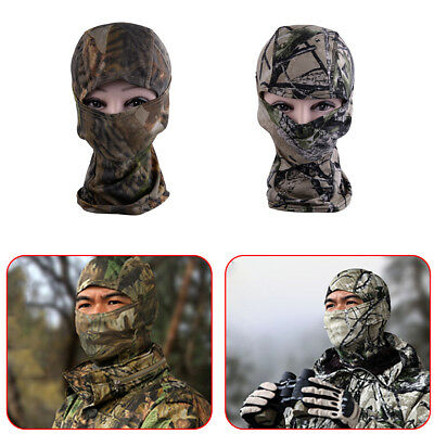 Outdoor Camouflage Hunting Scarf Cap Balaclava Winter Hat Full Face Mask Hood