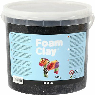 Creativ Company Foam Clay® BLACK - 560g Bucket Self-hardening modelling Clay