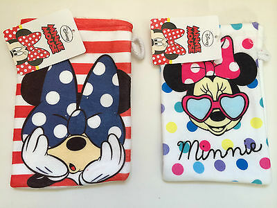 Disney Minnie Mouse Character Girl Wash Mitt Childs Kids Flannel Face Cloth Bnwt
