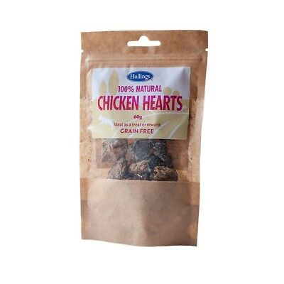 HOLLINGS CHICKEN HEARTS Natural Grain Free Healthy Meat Dog Puppy Treats 60g