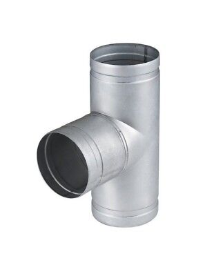 Metal T Piece Ducting Pipe / Hose Tee Connector