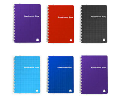 2019 Page per Day/ Day Per Page Appointment Diary Book. A5 & A4 Mid-Year Options