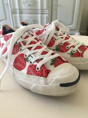 f153cf4ee766 RARE CONVERSE STRAWBERRY Jack Purcell Marimekko Women Shoes sz 6 ...