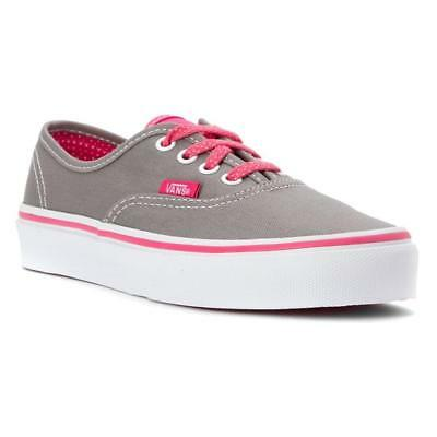 Vans Girl's Authentic Grey/Pink Polka Dot Lace Shoes