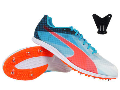 84fdef39bd3434 Men s Women s Puma evoSpeed Distance V6 Running Spikes Studs Tabs Sprint  Shoes
