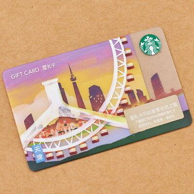 New Starbucks 2018 China TianJin Gift Card Pin Intact-Philadelphia sister city