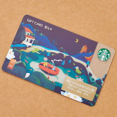 New Starbucks 2018 China Hangzhou Gift Card Pin Intact- Boston sister city