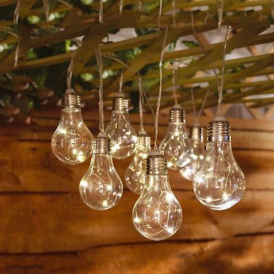 Solar Led Retro Bulb String Lights Garden Outdoor Fairy Summer Lamp Led Lights