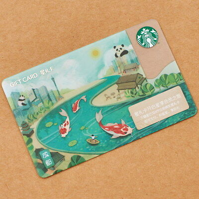 New Starbucks 2018 China Chengdu Panda Gift Card -The sister city of Atlanta