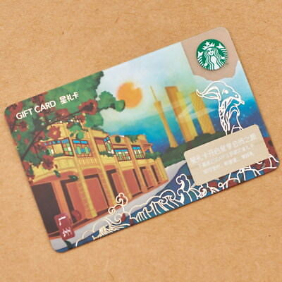 New Starbucks 2018 China Guangzhou Gift Card Pin Intact-Los Angeles sister city
