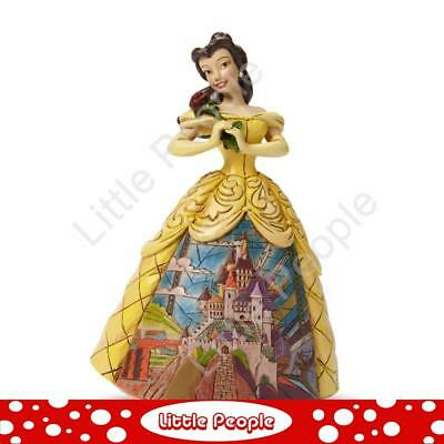 Jim Shore Enchanted - Belle With Castle Dress Figurine Disney Traditions