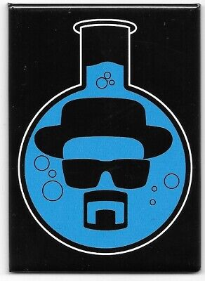 Breaking Bad TV Series Walter White Image Inside A Blue Bong Magnet NEW UNUSED