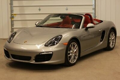 2013 Porsche Boxster Boxster S NEW PRICE*$42750*Boxster S*6-Speed Manual*1 Owner*Clean Carfax*315 HP*Silver/Red