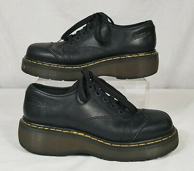 Dr. Martens Air Wair Mens Black Leather Oxfords Sz7 UK 8US #8651 Made in