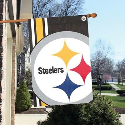 Pittsburgh Steelers 2'x3' NFL Licensed Bold Logo Banner / Flag - Free Shipping