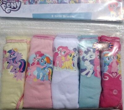 Girls My Little Pony 5 Pack Knickers Briefs Pants Childrens 2 3 4 5 6 7 8 Years