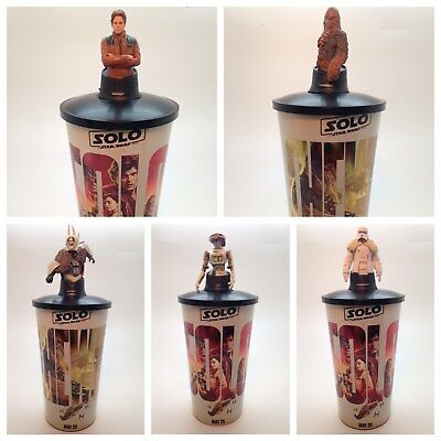 Solo: A Star Wars Story 44oz Plastic Cups and 5 Cup Toppers Theater Exclusives