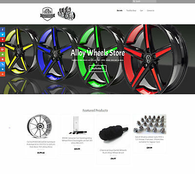 Fully automated ALLOY WHEELS Business - Upto £200 per sale FREE DOMAIN / HOSTING