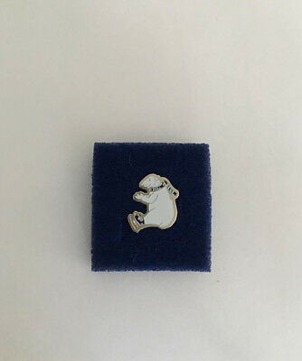 Ice Skating Polar Bear Collectors Pin - Great Gift
