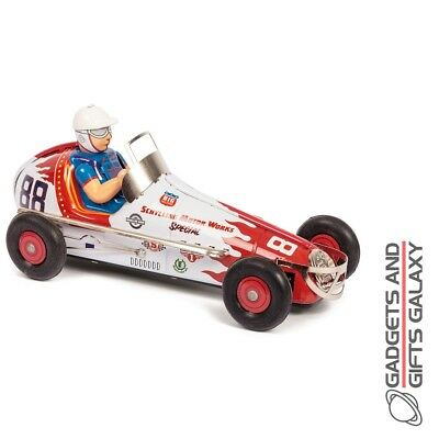 Sprint Race Car Clockwork Classic Tin Childs Kids Toys Gifts Collectable