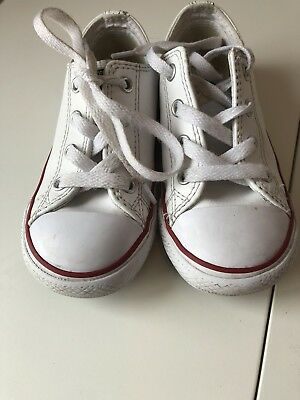 Unisex white leather converse all star size 9 - good condition