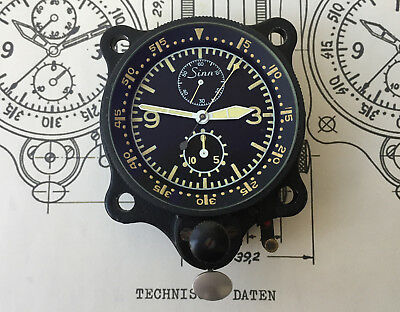 Sinn NaBo 16 Navigations Borduhr Luftwaffe Tritium 1970 in OVP Diehl Box