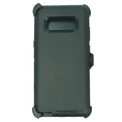 For Samsung Galaxy Note 8 Case (Belt Clip Holster Fits Otterbox Defender) BLACK