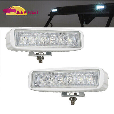 John Deere X300 X500 X530 X534 X570 Series 6'' LED Work Light Bar Fog Driving 2X