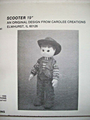 """19""""  Scooter stuffed toy cowboy soft sculpture doll pattern"""