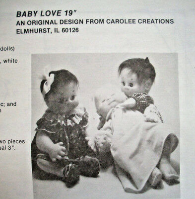 """19""""  Baby Love stuffed toy soft sculpture doll pattern"""