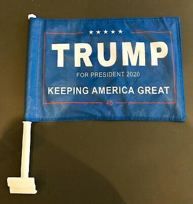 60MPH Double Sided Car Flag President Donald Trump 2020 Keep America Great Again