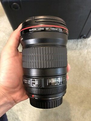 Canon EF 135mm f/2.0 L USM Lens in Excellent condition