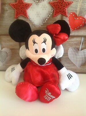 """Disney Store 2012 Minnie Mouse Red Dress  Large 17"""" Plush Soft Toy❤️Ex Con"""