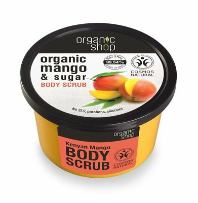 Organic Shop Body Scrub Organic Mango & Sugar  250ml Natural Product