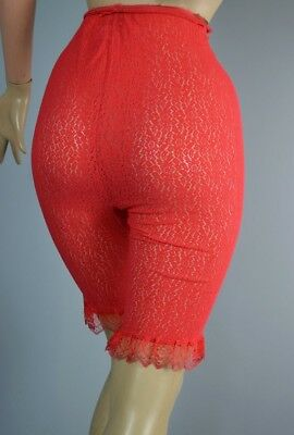 Red Lace Petti Pants Panties Vintage 1960s Pinup Drawers Deadstock Knickers