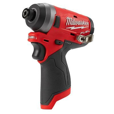 New Milwaukee 2553-20 M12 FUEL 12V 12-Volt Lithium-Ion 1/4 in. Hex Impact Driver