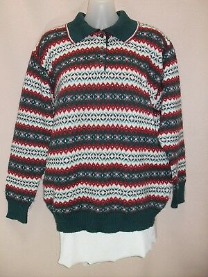 1970's/80's Fair Isle Patterned Jumper with Collar.